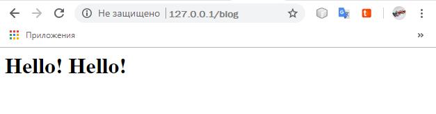 Результат вывода приложения blog